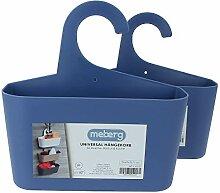 meberg LA05 Duschkorb zum Hängen Duschregal Blau