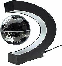 MECO Globen Licht Magnetische Kugeln Business Geschenke Geburtstag Geschenke Wohnkultur Büro Dekoration Globus Light Silber/Schwarz