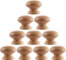Mecotech 10 Stück Holz Möbelknöpfe