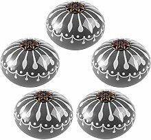 Mecotech 5 Stück Keramik Möbelknöpfe