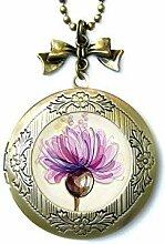 Medaillon mit Blumen-Motiv, Fotomedaillon,
