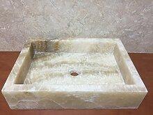 MEDAN - Waschbecken aus weißem Marmor