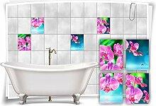 Medianlux Fliesen-Aufkleber Fliesen-Bild Orchideen