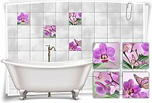 Medianlux Fliesenaufkleber Fliesenbild Blumen