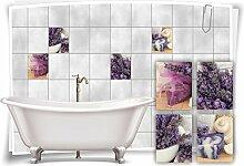 Medianlux Fliesenaufkleber Fliesenbild Lavendel