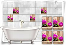 Medianlux Fliesenaufkleber Fliesenbild Orchidee