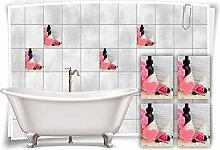 Medianlux Fliesenaufkleber Fliesenbild Rosen