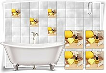Medianlux Fliesenaufkleber Fliesenbild Zitrone