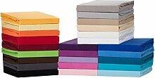 Medicate Comfort Jersey Spannbettlaken, Spannbetttuch - in viele Farben und alle Größen - 100% Cotton/Baumwolle (90x200-100x200 cm, Orange)