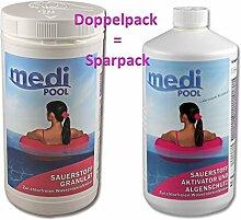mediPOOL SET 1 x Sauerstoff Granulat 1,0 kg + 1 x Aktivsauerstoff Aktivator 1,0 l