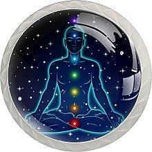 Meditation 4 Stück Schranktürgriffe, Rundgriffe,