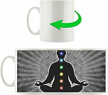 Meditation mit den 7 Chakren B&W Detail,