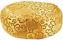 Meditationskissen: Lotus Design Gold