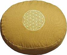 Meditationskissen mit Dinkelfüllung und Stickerei