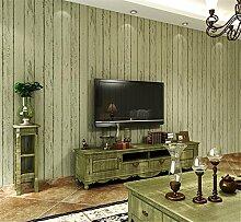Mediterrane blau Stripe Tapete Holz Wohnzimmer Schlafzimmer Tapete Vintage Vertikale Streifen Fernsehen Hintergrund Vliesstoffe, lichtgrün, 0.53m*10m