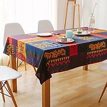 Mediterrane Kunst-tischdecke/Amerikanischen Landbevölkerung Stil Garten Stoffe Aus Baumwolle, Leinen Tischdecken-B 110x170cm(43x67inch)