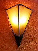 Mediterrane Lampe aus Leder Marwa Natur