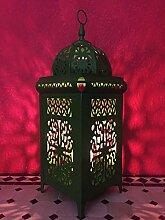 Mediterrane Marokkanische Laterne Eisenlaterne Safiye 41cm (Grün)