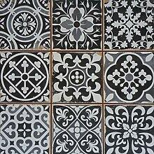 Mediterrane Patchwork Keramik Fliese Rahel Schwarz