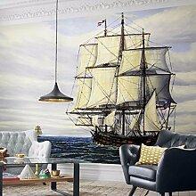 Mediterrane Pers5onlichkeit nahtlose kreative Tapete, Schlafzimmer, Wohnzimmer, Hintergrundtapete, Satinprägung