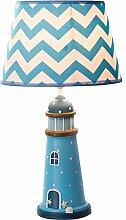 Mediterrane Tischlampe Kreative Kinderzimmer Blaue