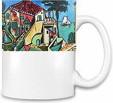 Mediterranean Landscape Picasso Painting Kaffee