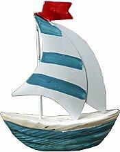 Mediterranen Stil Personalisierte Yawl Ornaments Ceramic Dekoration,B