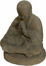 Meditierender Mönch XXL Figur Steinguss /