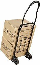 Meditool Sackkarre Handkarre Klappbar Transportkarre mit Teleskop-Gestänge (schwarz 110LBS)
