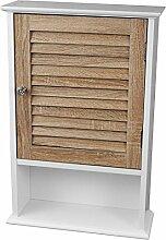 Medizinschrank mit 1 Tür 40x15x60cm Holz/MDF Schränkchen Badschrank Hängeschrank Wandschrank