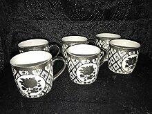 Medusa Kaffee Cappuccino Becher mit Löffel für 6