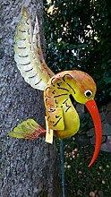 Medusa Metallfigur Deko Gartendeko Gartenfigur floureszierend versch.Figuren NEU Kolibri groß grün 140x14x33cm
