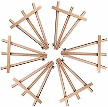 Meeden 24cm Mini Holz-Staffelei für Hochzeiten und Partys, Kartenhalter, (6er Pack)