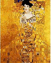 MEEKIS Malen nach Zahlen DIY Goldene Mode Dame