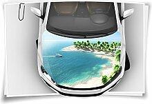 Meer Insel Palmen Autoaufkleber Airbrush Motorhaube Carwrapping Folie Folierung Rapidair Digitaldruck Luftkanalfolie Aufkleber Auto Tuning