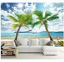 Meer Natur Kokospalmen 3D Tapete Wandbild Für