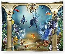Meer Ozean Delfin Wandteppich Unterwasser