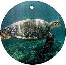 Meer Schildkröte Ornament rund Porzellan Weihnachten tolle Geschenkidee