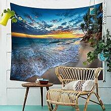 Meer Strand Himmel Palmen Wandteppich Natur
