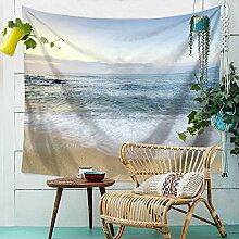 Meer Welle Strand Wandteppich Wandbehang Natur