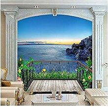 Meeresbalkon mit Meerblick für Wände Wandbilder