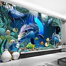 Meeresdelfin,Tapete Wandtattoo,3D-Tv