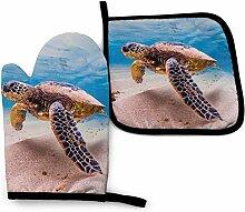 Meeresschildkröte Monster Küchenofen Handschuhe