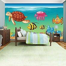 Meerestiere Wandbild Unter dem Meer Foto-Tapete Kinder Schlafzimmer Haus Dekor Erhältlich in 8 Größen XXX-Groß Digital