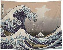 Meereswelle Malerei Wandteppich Japanischen Stil