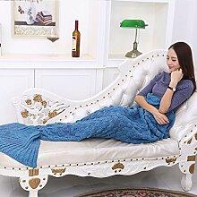 Meerjungfrau Decken Klimaanlagen Decken Decken Sofa Decken Meerjungfrauen Schwanz Kleine Decken,A5