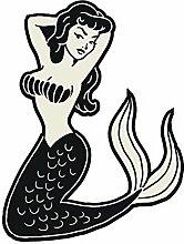 Meerjungfrau Pin Up Tattoo–Full Color Vinyl
