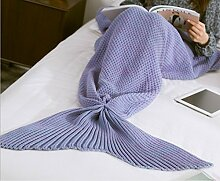 Meerjungfrau Schwanz Decke Crochet Meerjungfrau