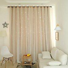 MEETgr Dekorative Gardinen mit Sternen für