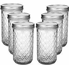 MEETOZ Marmeladengläser aus Glas, gesteppt, mit